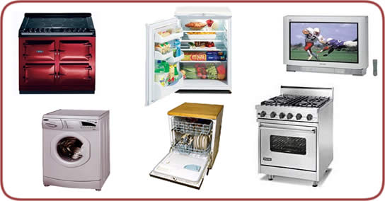 Kitchen electical appliances throughout devon